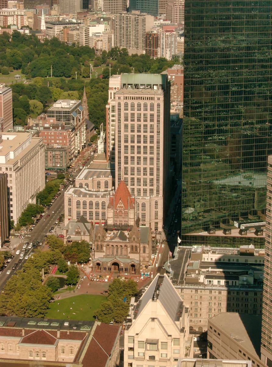500 Boylston Street & Trinity Church, Boston, Massachusetts.