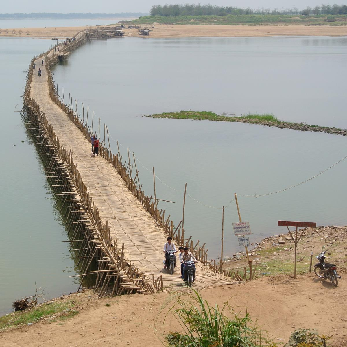 Bambusbrücke Kampong Cham