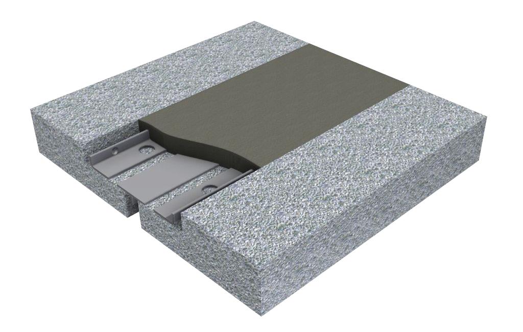Variante du joint de dilatation flexible POLYFLEX® en PU haute performance de dimensions réduites à utiliser avec des charges faibles (par ex. ponts ferroviaires, parkings couverts, aéroport, complexes industriels, etc.)