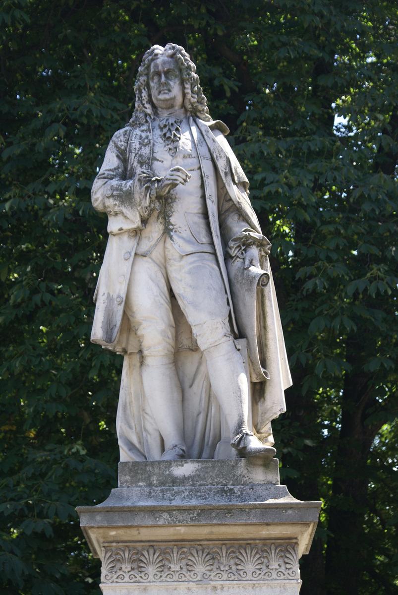 Johann Bernhard Fischer von Erlach Statue in front of Vienna City Hall
