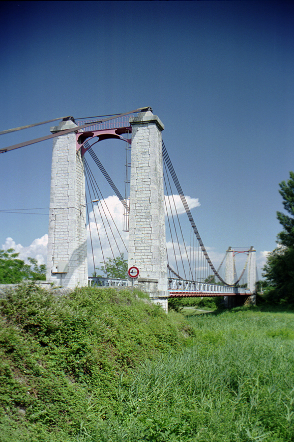 Livron Suspension Bridge.