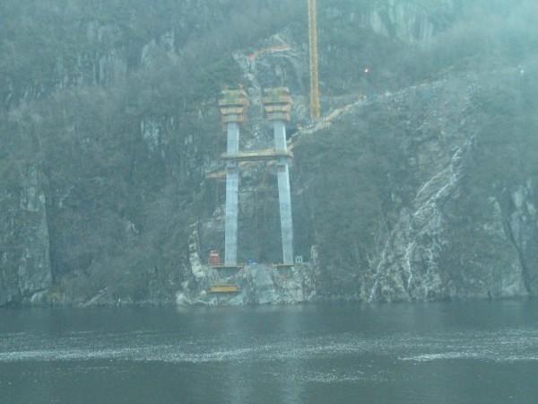 Fedafjord bridge under construction, Vest-Agder, Norway