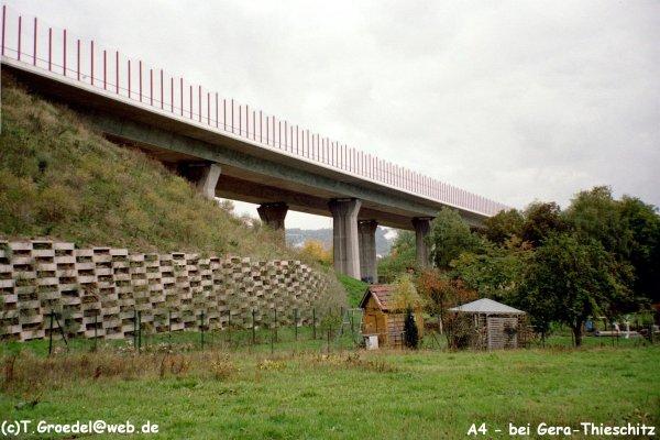 Autobahn A4Autobahnbrücke Köstritzer Weg, Gera-Thieschitz.