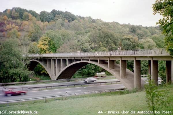 Autobahnüberführung Pösen.