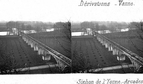 Pont-sur-Yonne Aqueduct — Stereoscopic View around 1875