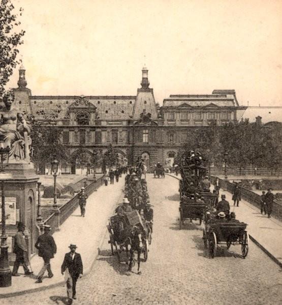 Carrousel-Brücke, Paris – Stereoskopische Ansicht um 1900 Aus der Sammlung des Stéréo-Club Français