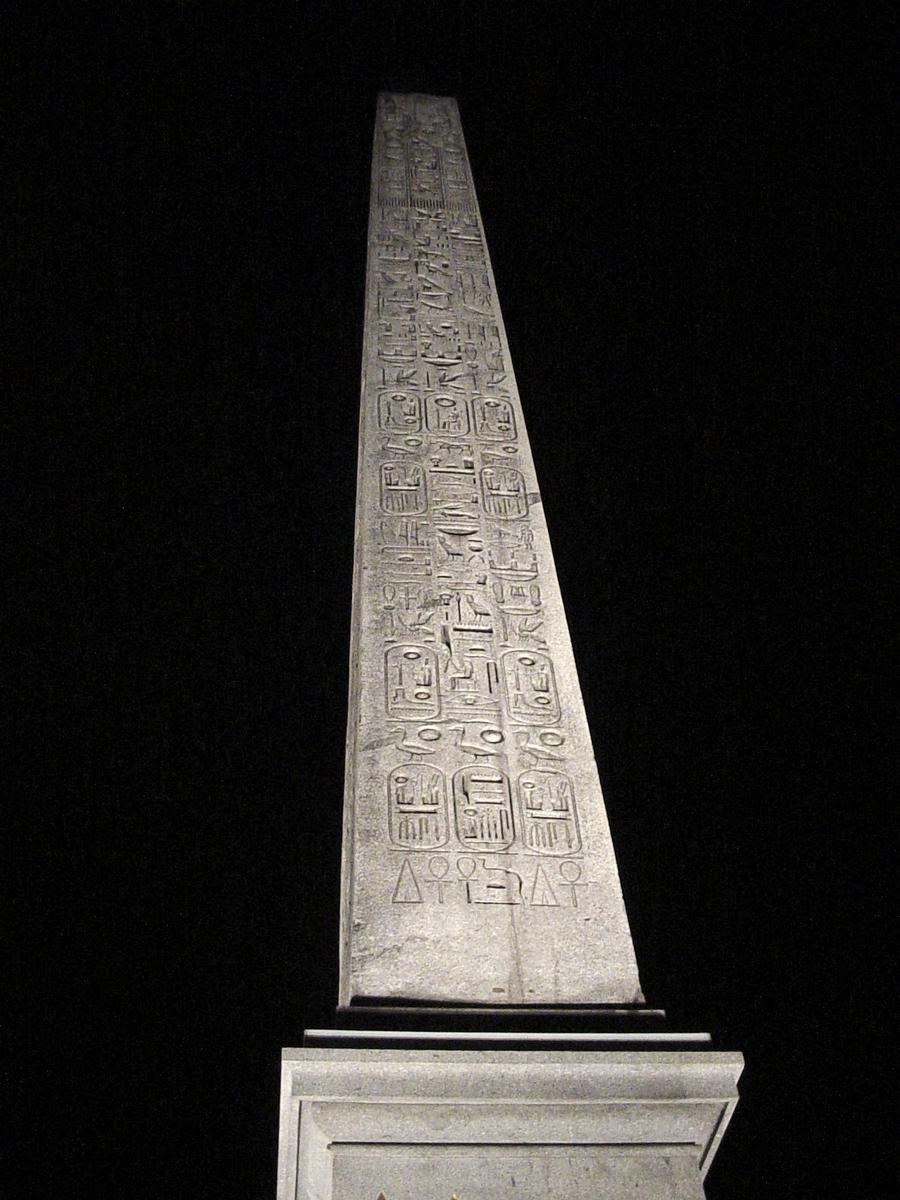 Obélisque de la Concorde, Paris 8e. Face nord