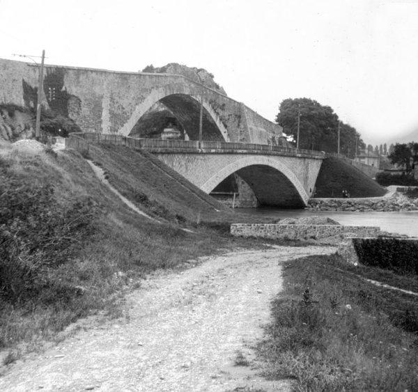 Brücken in Claix Stereoskopische Ansicht um 1880 – Aus der Sammlung des Stéréo-Club Français