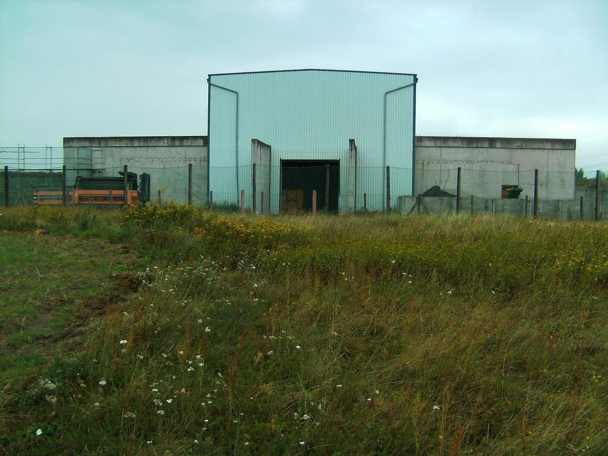 Stromrichterhalle der HGÜ-Kurzkupplung Wolmirstedt