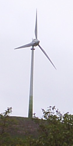 Eolienne sur le Grüner Heiner