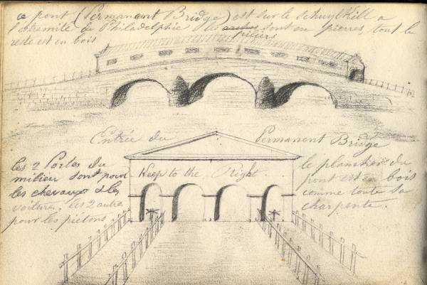 Drawing of Permanent Bridge. Submitted by Thierry Wagner.
