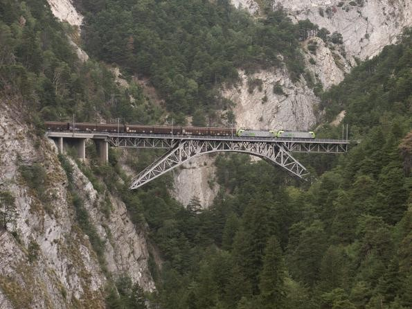 Bietschtalbrücke der BLS, zwischen Hohtenn und Ausserberg