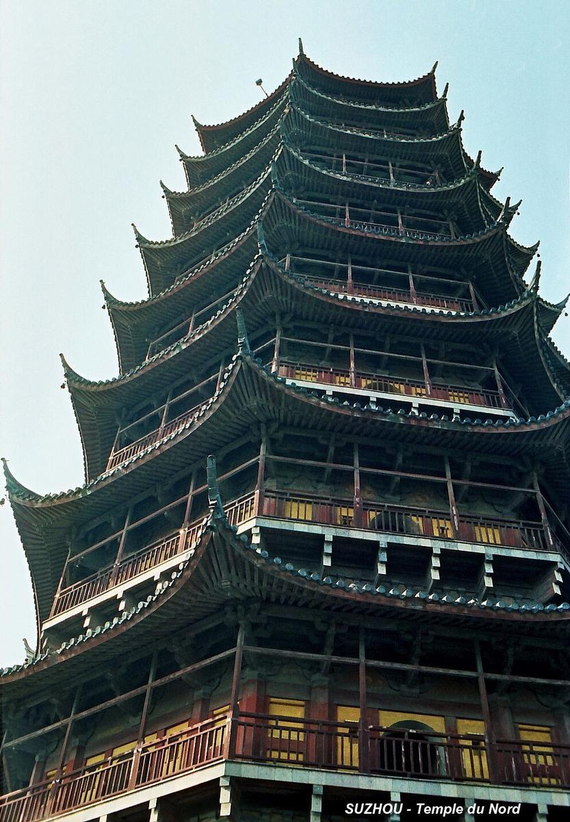 SUZHOU (Jiangsu) – Temple du Nord, la grande pagode du 16e siècle, 9 étages