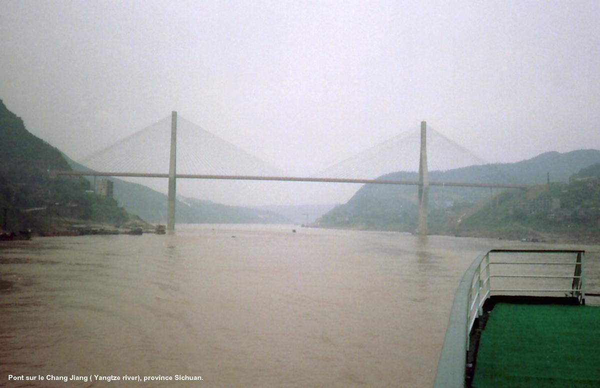 Yangtze Bridge between Chongqing and Fengdu.