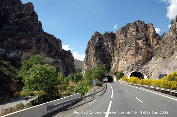 Puerto del Carretero Tunnel between Jaén and Granada.