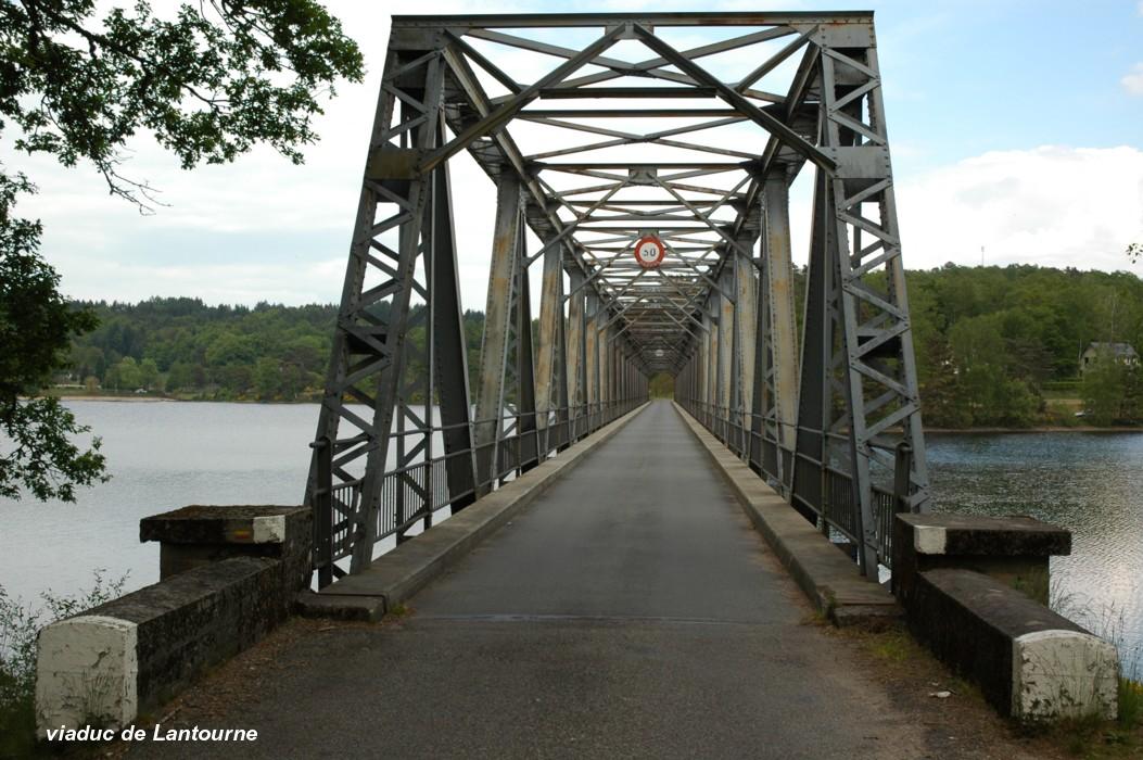 Fiche média no. 113357 Viaduc de LANTOURNE, sur le Doustre (retenue du barrage de La Valette), RD 131e1 entre Marcillac-la-Croisille (19320, Corrèze) et Saint-Pardoux-la-Croisille (19320, Corrèze)
