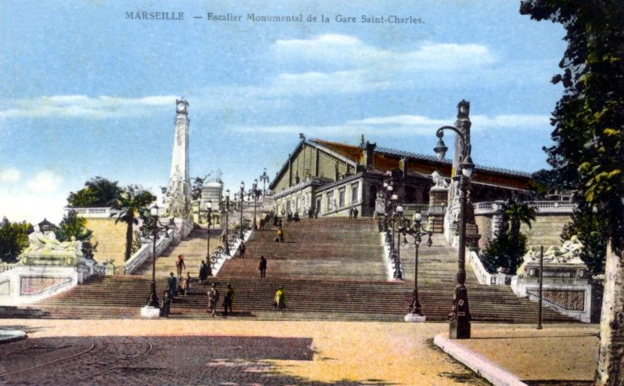 Marseille - Staircase at Saint-Charles Station