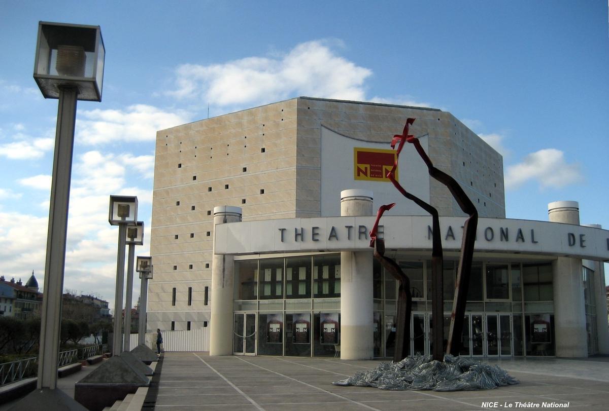 NICE (06,Alpes-Maritimes) - Le Théâtre National, hall d'accueil sur la «Promenade des Arts»
