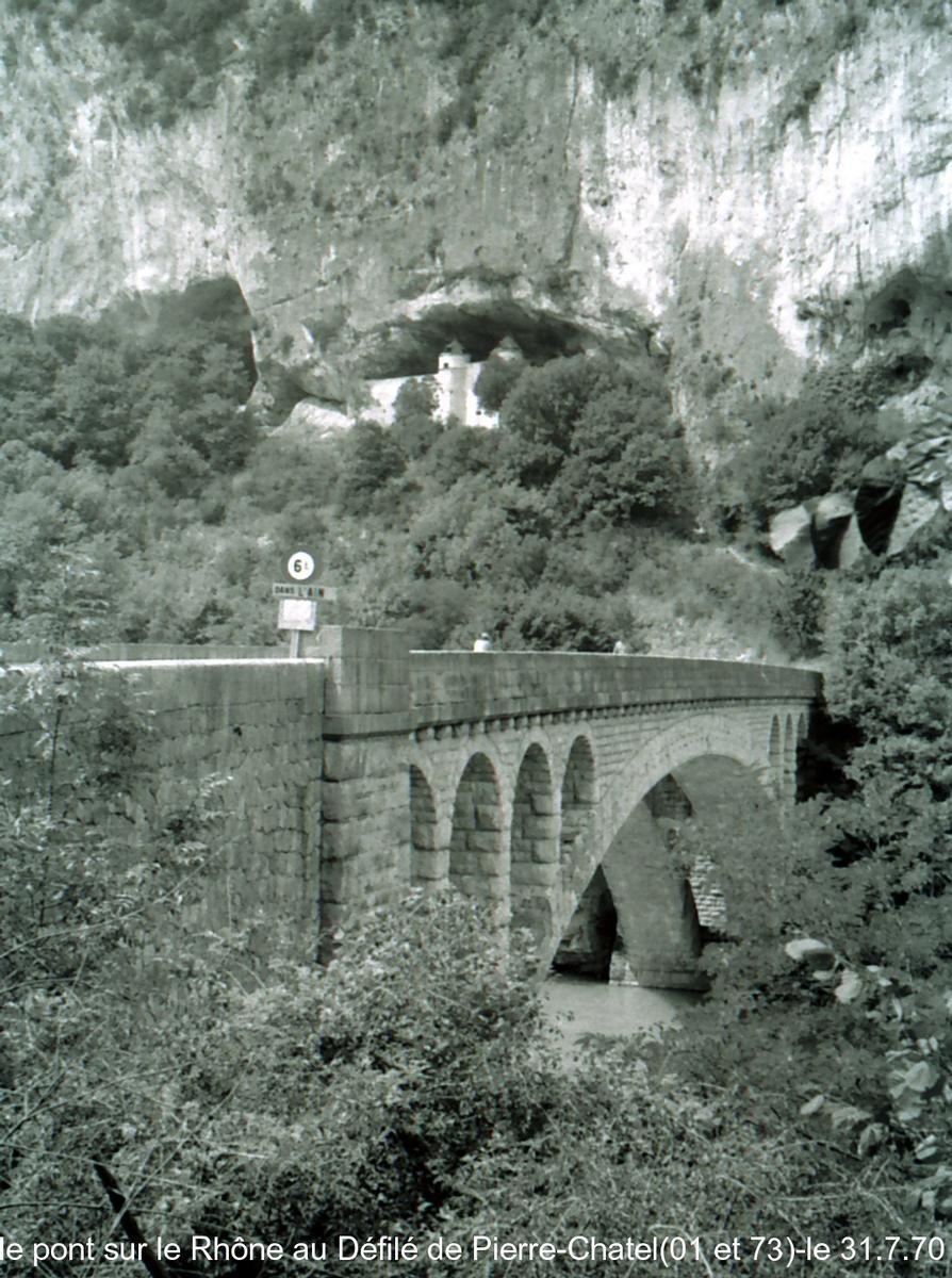 La Balme Bridge across the Rhone.