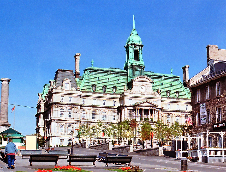 H tel de ville montr al montr al 1878 structurae for Hotel piscine montreal