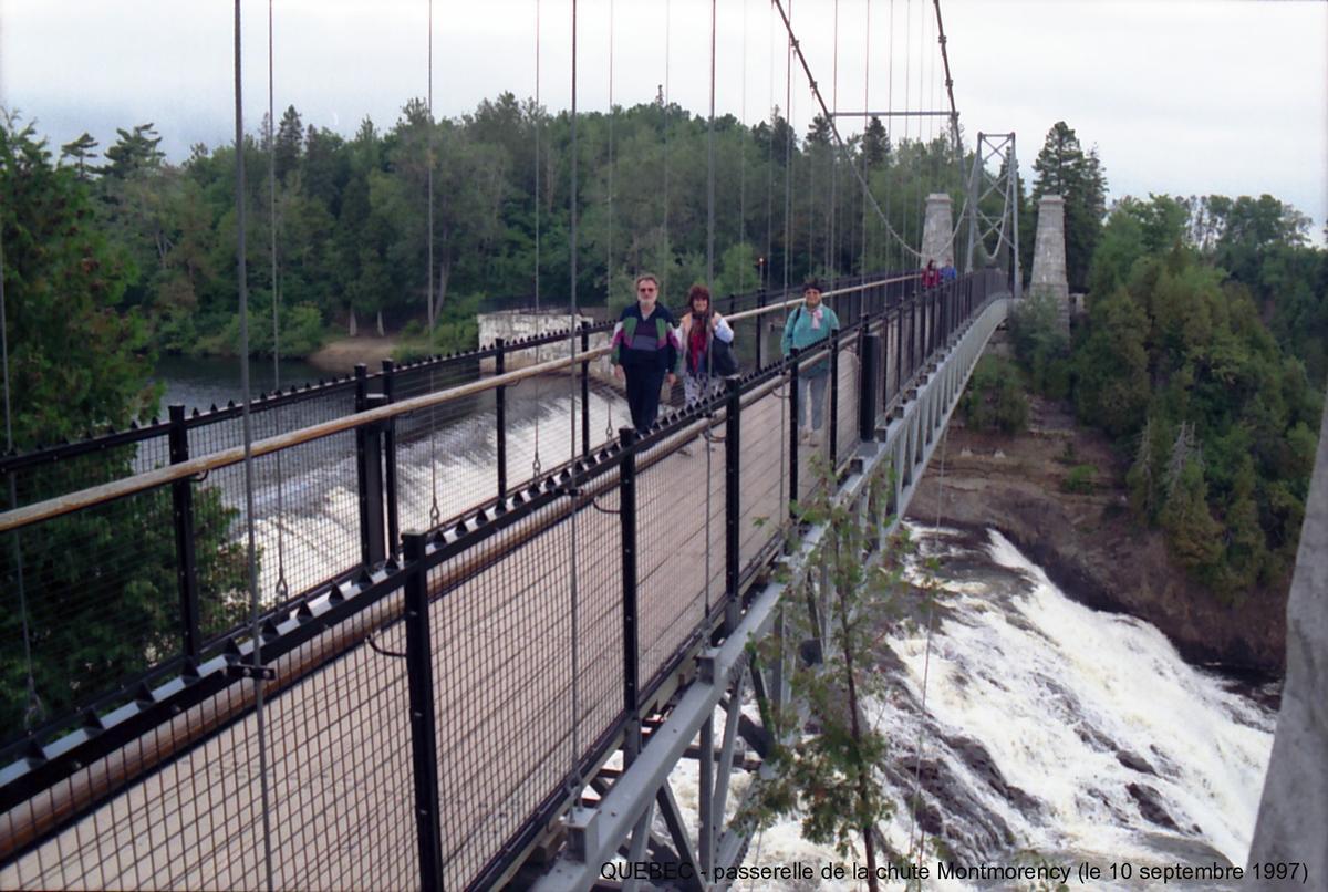 Montmorency Falls Suspension Bridge Quebec Structurae