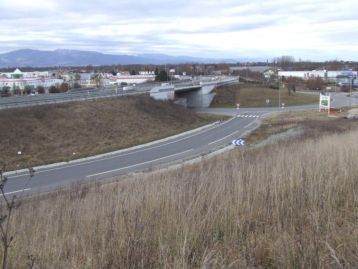 Westumfahrung von Mülhausen zwischen Les Côteau und Morschwiller-le-bas
