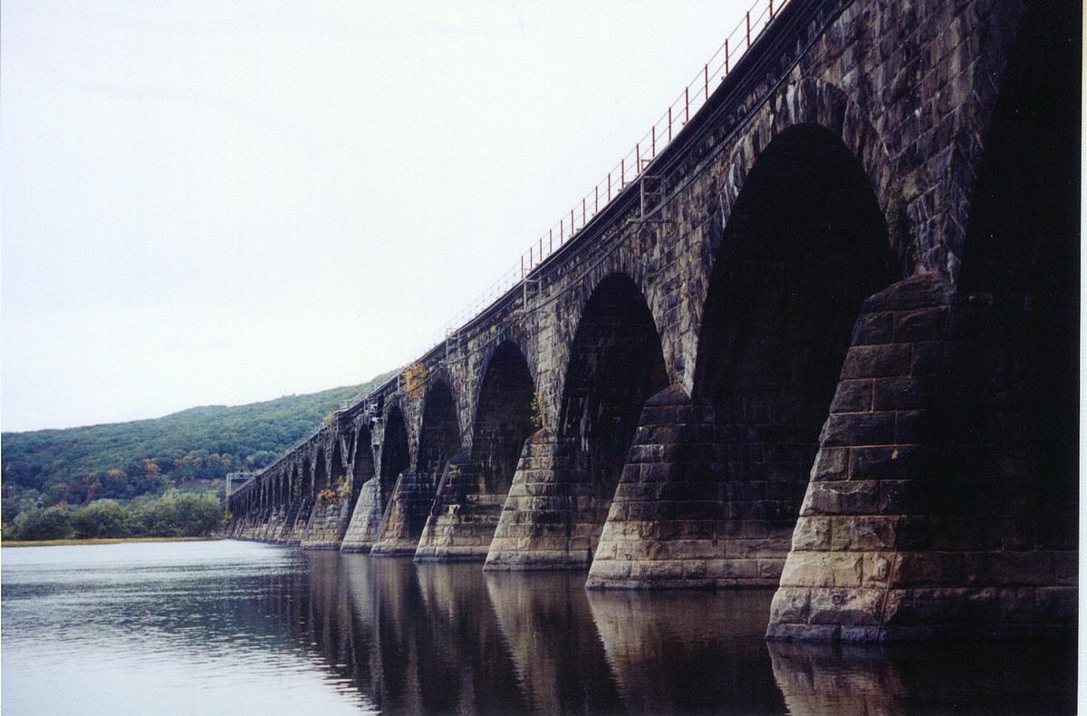 Rockville Railroad Arch BridgePennsylvania RailroadCrossing the Susquehenna River to linkRockville, Pennsylvania and Maryville, Pennsylania USA