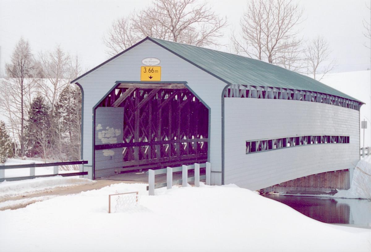 Pont des Draveurs, Mont-Lebel, Québec, Canada