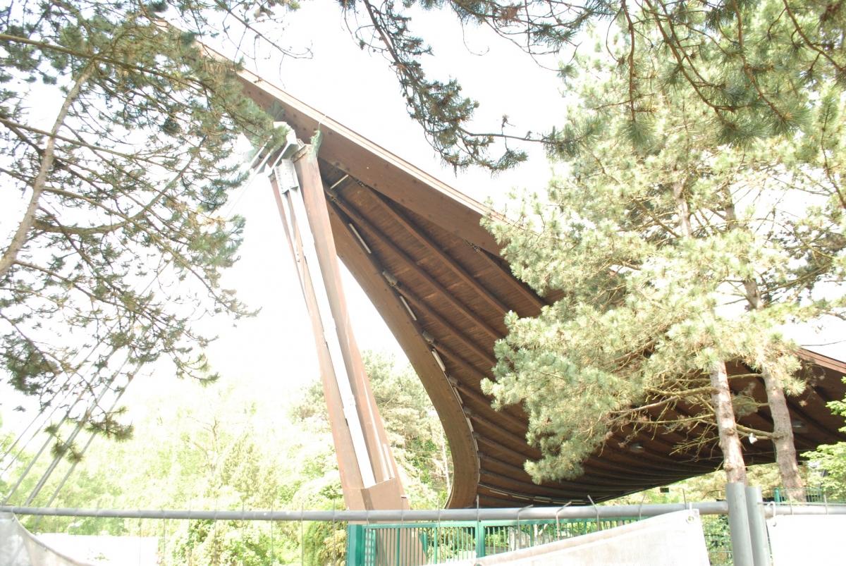 Voile d'ombrage du Westfalenpark