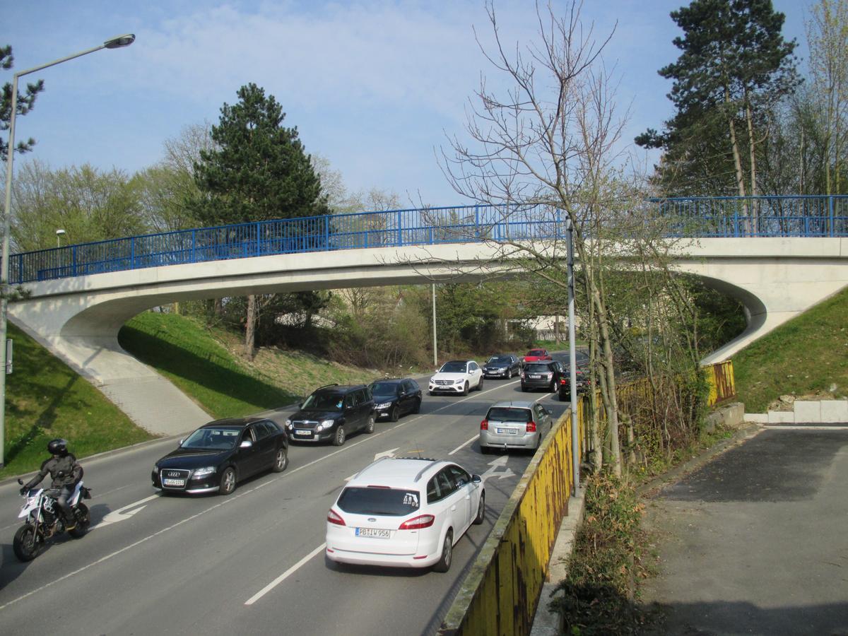 Passerelle sur la Giselastrasse