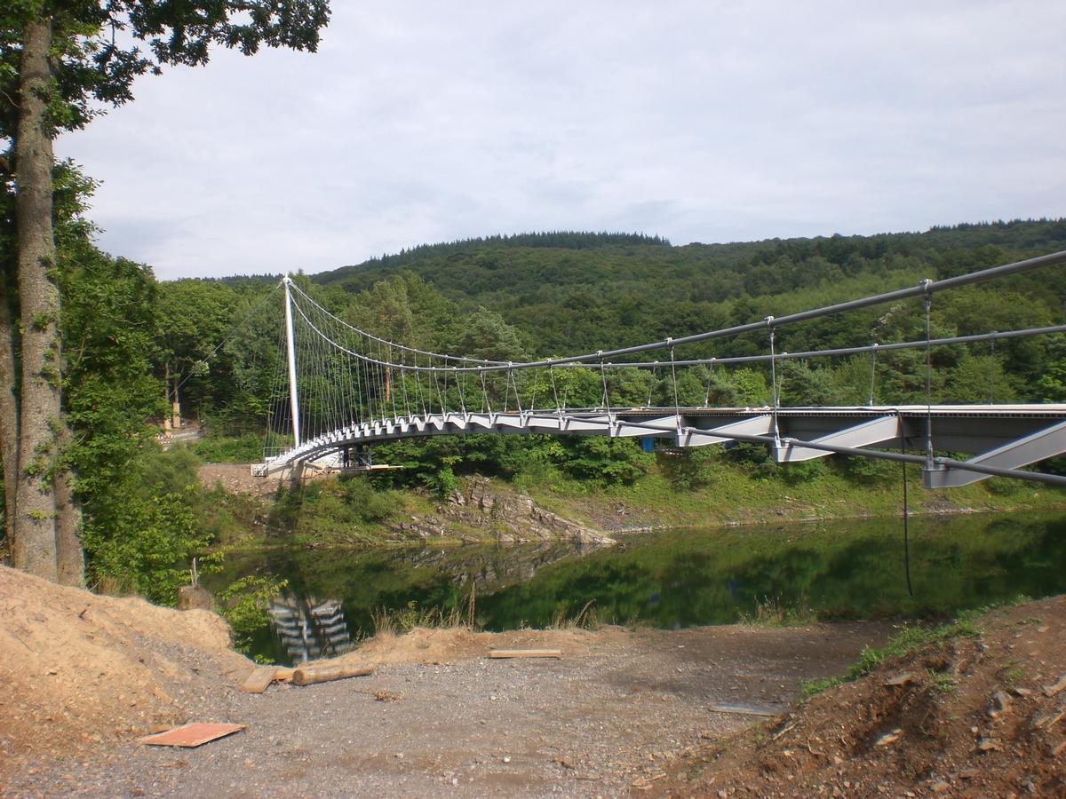 Urftseebrücke während der Brückenmontage