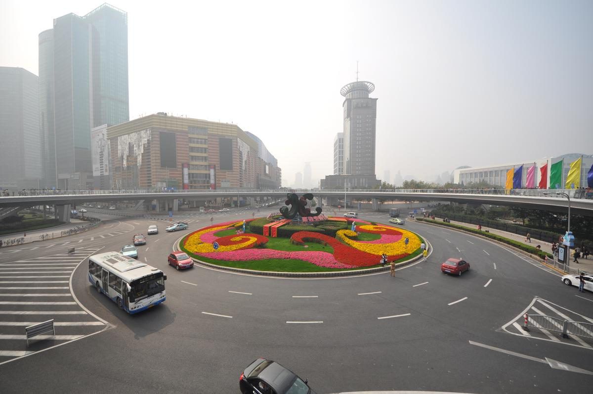 Lujiazui Ring Road Circular Footbridge