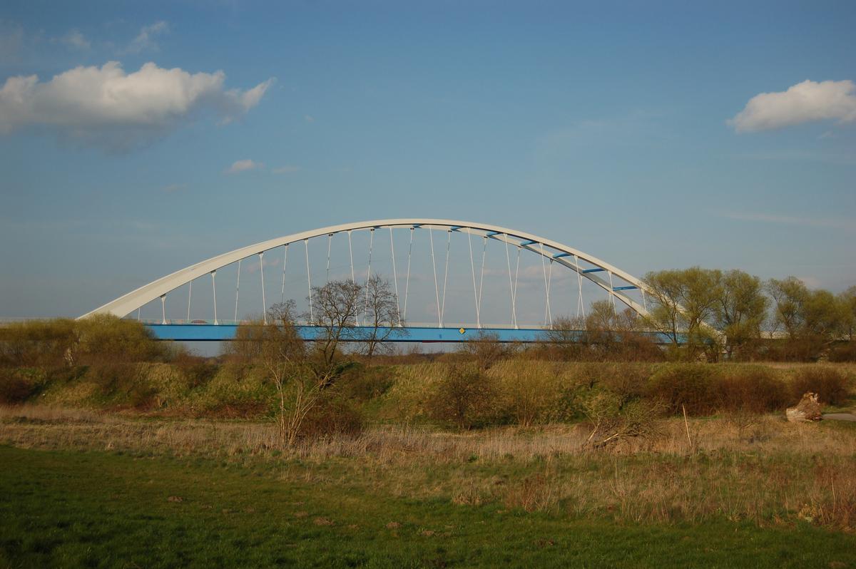 Neue Elbebrücke, Tangermünde, Landkreises Stendal, Sachsen-Anhalt