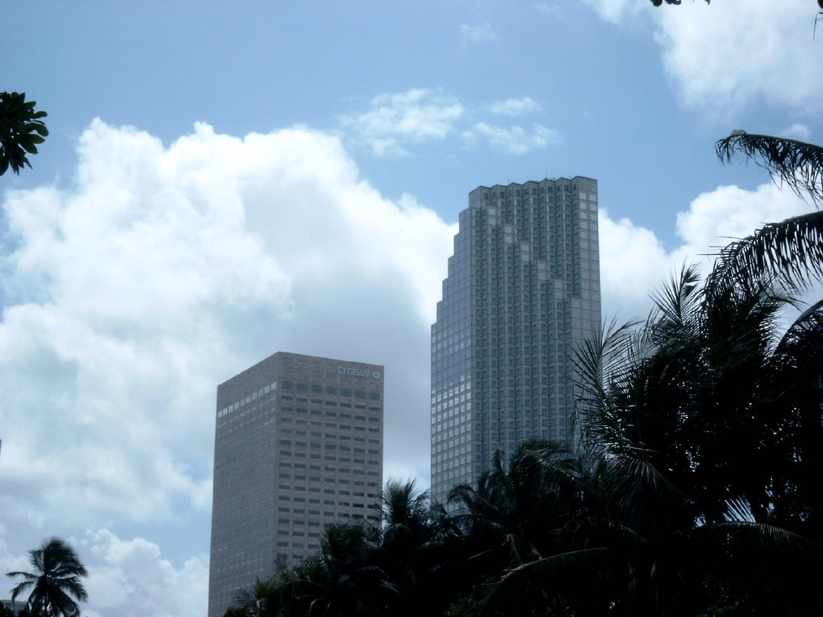 First Union Financial Center & Miami Center, Miami.