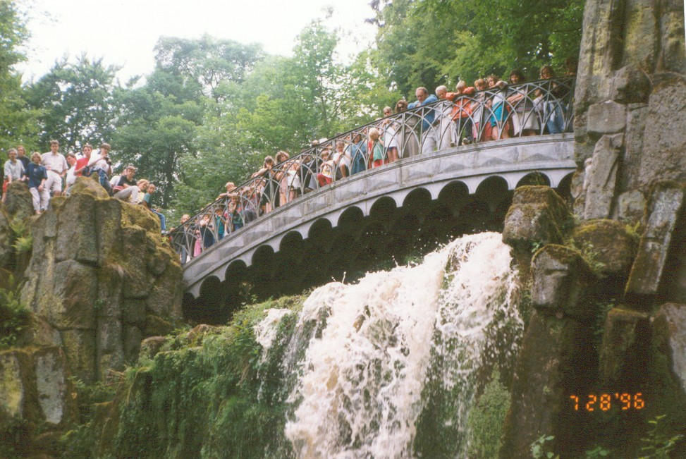 Devil's bridge at a park in Kassel-Wilhelmshöhe