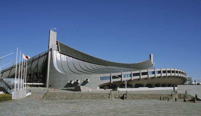 First Gymnasium Of Yoyogi National Stadium Shibuya 1964