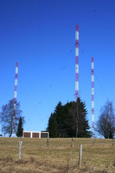 Die 3 Tagessendemasten in Marnach