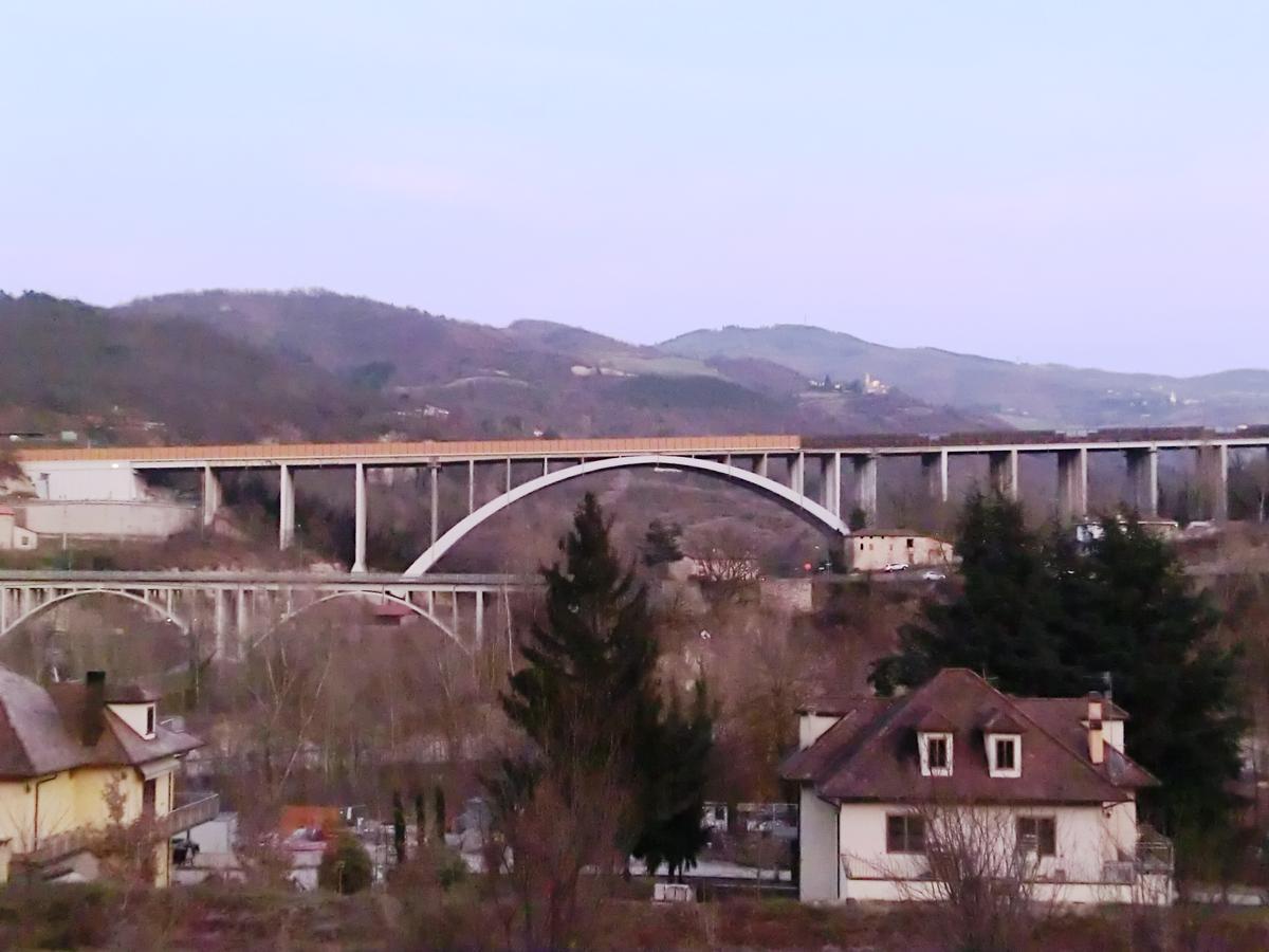 Sambro Bridge (on the left) and A1 Sambro Viaduct