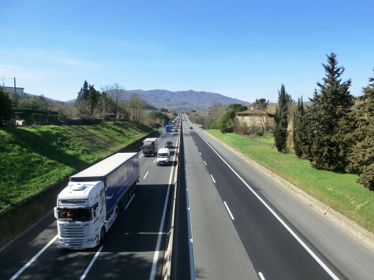 A 1 Motorway (Italy) in Valdarno