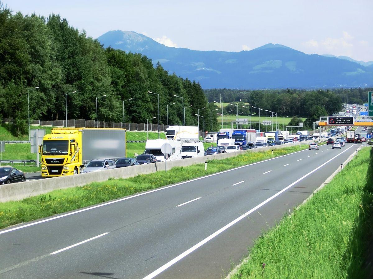 A 1 Motorway (Austria) at Deustchland border