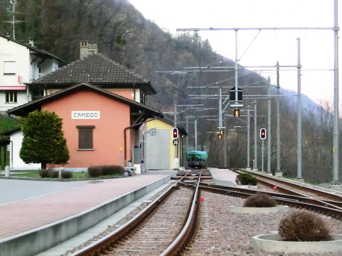 Vigezzina-Centovalli Railway at Camedo Station