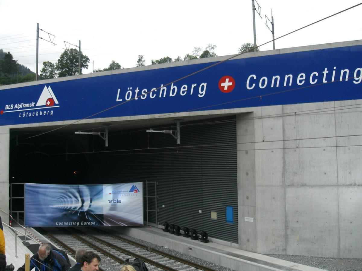 Lötschberg Base Tunnel northern portal on inauguration day