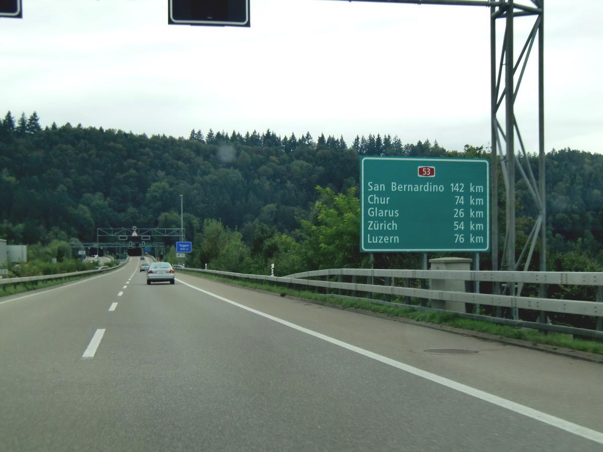 autoroute a 53 suisse schwyz zurich structurae. Black Bedroom Furniture Sets. Home Design Ideas