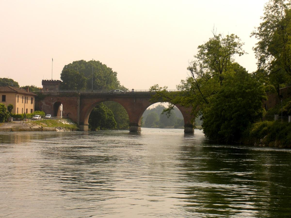 Cassano d'Adda Bridge from Borromeo Island