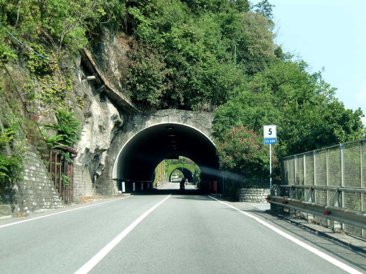 Roncaccio Tunnel southern portal; on the backyard, Costa Scarone Tunnel southern portal