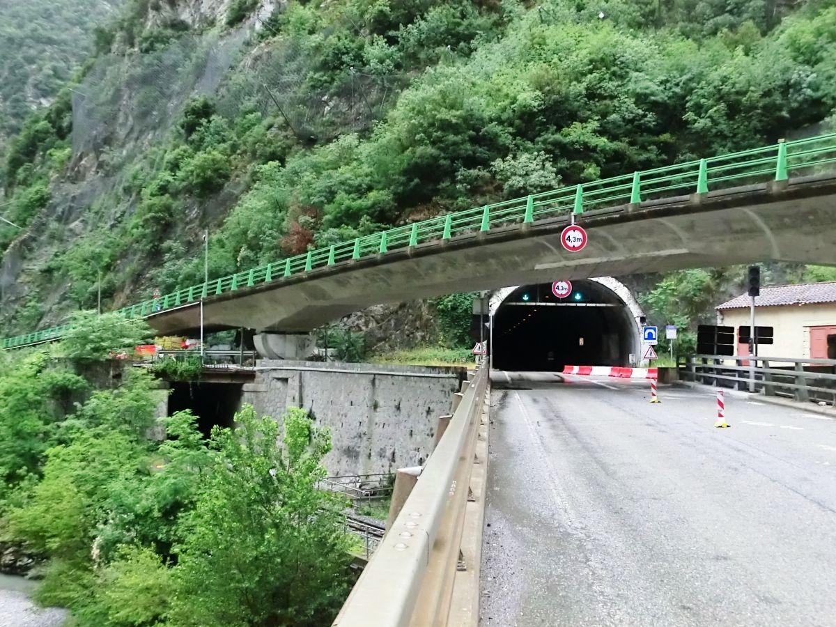La Mescla Railway and Road Tunnel northern portals