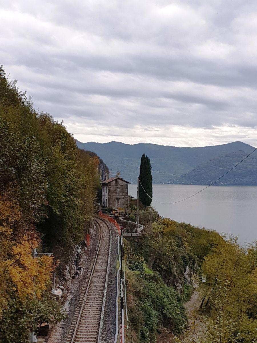 Brescia-Edolo Railroad Line between Toline and Vello