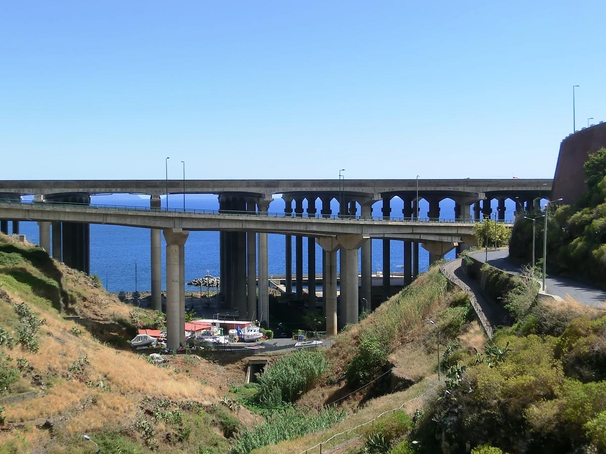 Madeira airport runway bridge (on the backyard) and VR1 Seixo Viaduct