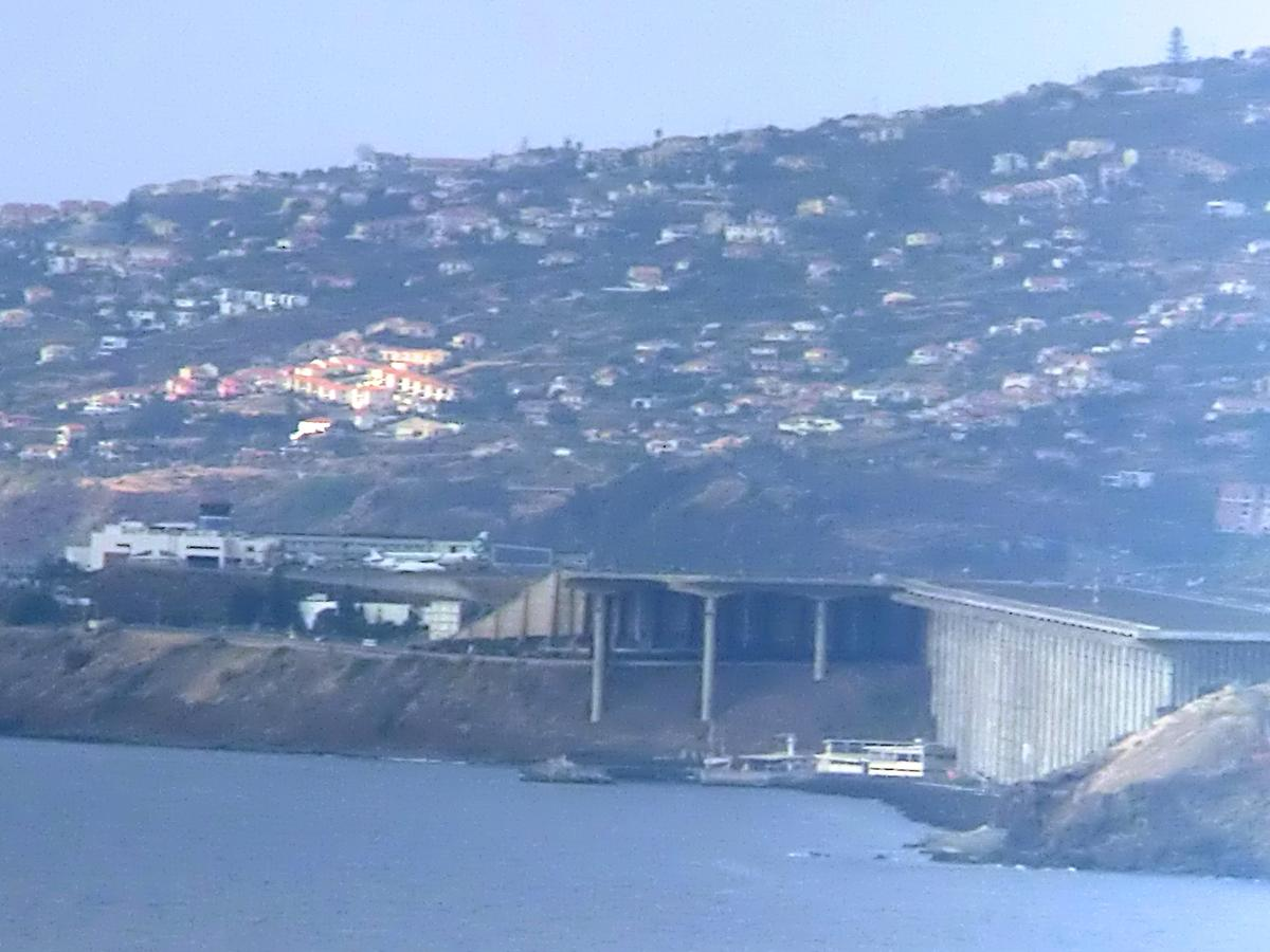Madeira airport runway bridge
