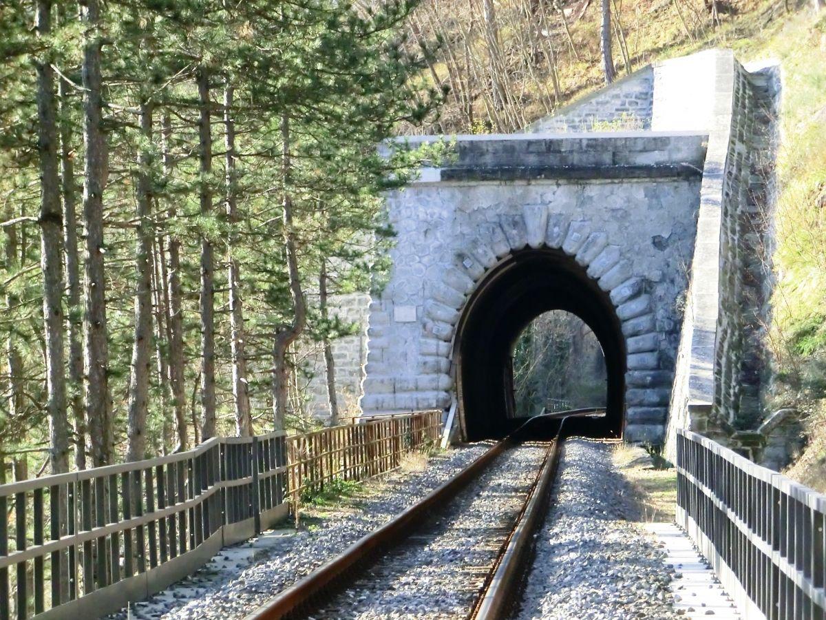 Castagno Tunnel eastern portal